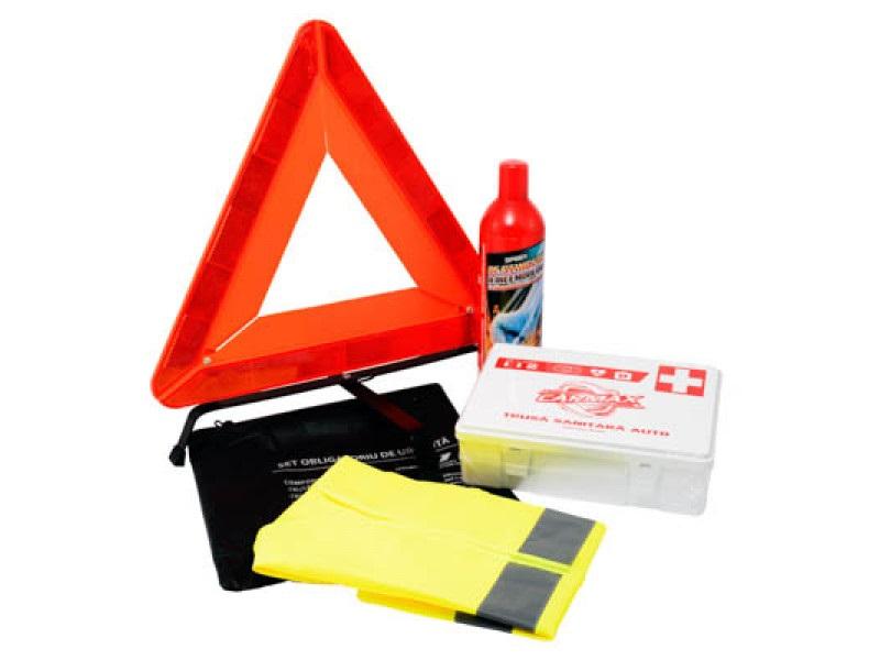 Kit auto obligatoriu de urgenta -  contine 4 produse